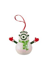 Despicable Me Minion Snowman Ornament
