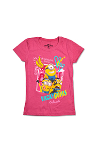 Despicable Me Minion Vacay Goals Girls T-Shirt