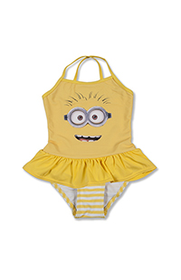 Despicable Me Minion Big Face Girls Swimsuit