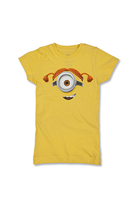 Despicable Me Minion Big Face Girls T-Shirt