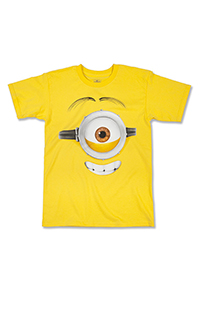Despicable Me Minion One Eye Big Face Adult T-Shirt
