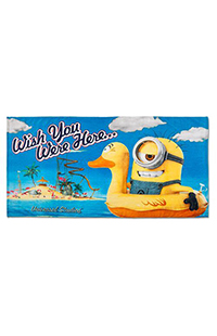 Despicable Me Wish You Were Here Towel
