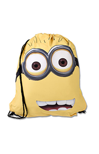 Despicable Me Two-Eye Minion Drawstring Backpack