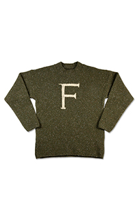 F For Fred Adult Sweater