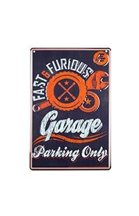 Fast & Furious Garage Parking Sign