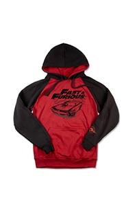 Fast & Furious Men's Raglan Hooded Sweatshirt