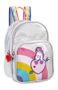 Fluffy Unicorn Mini Backpack