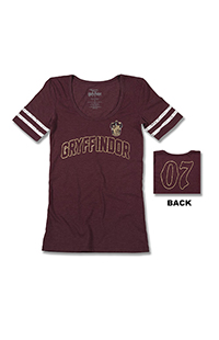 Gryffindor™ Ladies Striped Sleeves T-Shirt