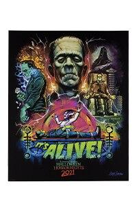 Halloween Horror Nights 2021 Artist Signature Series Frankenstein Poster