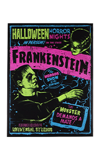 Halloween Horror Nights 2021 Blacklight Reactive Frankenstein Poster
