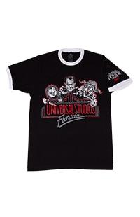 Halloween Horror Nights 2021 Retro Marquee Adult Ringer T-Shirt
