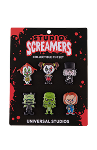 Halloween Horror Nights 2021 Studios Screamers Collectible Pin Set