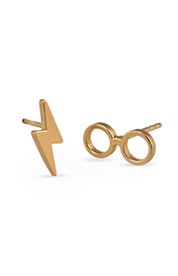 Harry Potter™ Glasses 14kt Gold Plate Earrings by Alex and Ani®