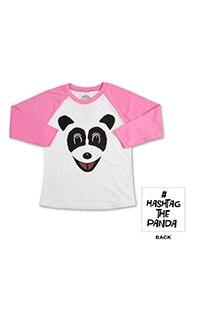 Hashtag The Panda Youth Raglan T-Shirt
