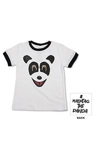 Hashtag The Panda Youth Ringer T-Shirt