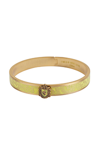 Hufflepuff™ Crest Bangle Bracelet