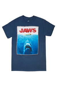 Jaws Poster Adult T-Shirt