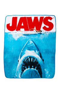 Jaws Poster Throw Blanket