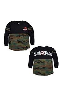 Jurassic Park Camo Ladies Long-Sleeve T-Shirt