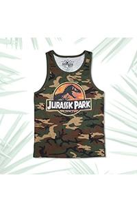 Jurassic Park Camo Men's Tank