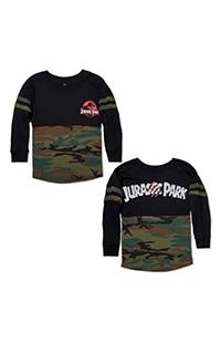 Jurassic Park Camo Youth Long-Sleeve T-Shirt