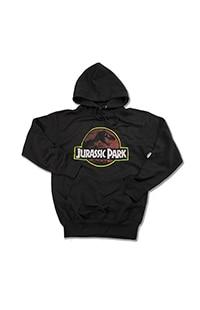 Jurassic Park Logo Adult Hooded Sweatshirt