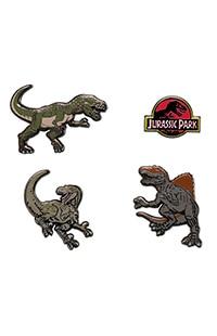 Jurassic Park Miniature Dinosaur Pin Set