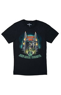 """Jurassic Park """"Send More Tourists"""" Glow-in-the-Dark Adult T-Shirt"""