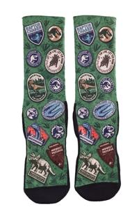 Jurassic World Badges Adult Socks