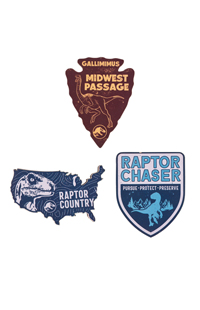 Jurassic World Badges Wood Magnet Set