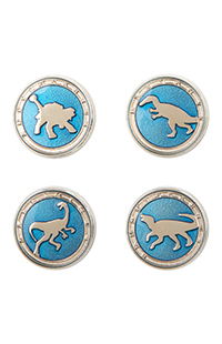 Jurassic World Baryonyx ID Pin Set