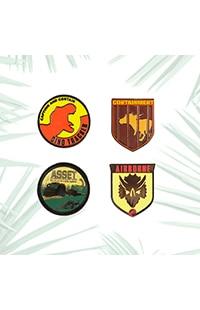 Jurassic World Containment Miniature Pin Set