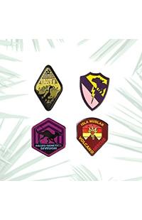 Jurassic World Department Emblems Miniature Pin Set
