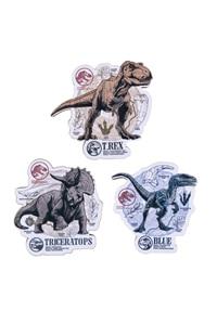 Jurassic World Dinosaurs Wood Magnet Set