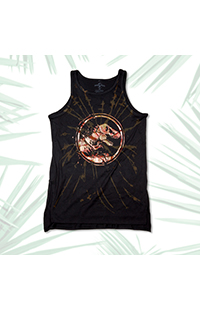 Jurassic World Flame Logo Ladies Tank