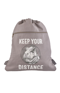 """Jurassic World """"Keep Your Distance"""" Drawstring Backpack"""
