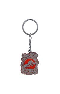 Jurassic World Logo Pin on Pin Keychain