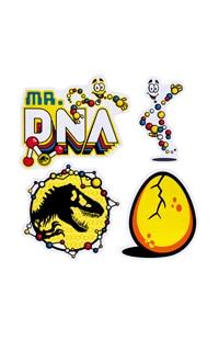 Jurassic World Mr. DNA Sticker Set