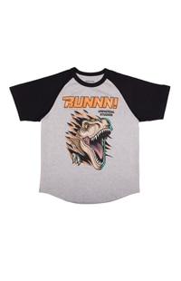 "Jurassic World ""RUNNN!"" Youth Raglan T-Shirt"