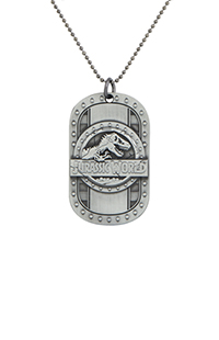 Jurassic World Sculpted Dog Tag Necklace