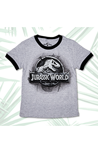 Jurassic World Stone Logo Youth T-Shirt