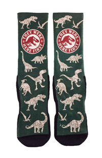 """Jurassic World """"They Were Here First"""" Adult Socks"""