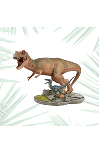 Jurassic World Tyrannosaurus With Blue Statue