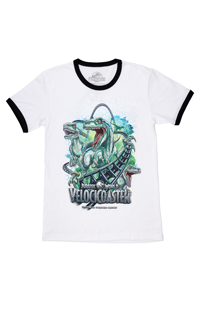 Jurassic World VelociCoaster Adult Ringer T-Shirt
