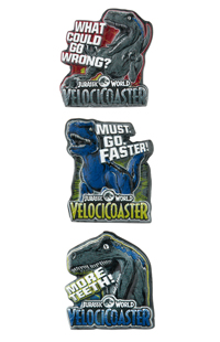 Jurassic World VelociCoaster Miniature Pin Set