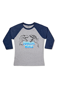 Jurassic World Youth Raglan T-Shirt