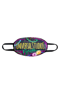 Large Universal Studios Florida Mardi Gras Cloth Face Mask