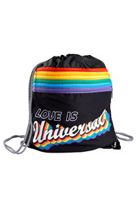 Love is Universal Retro Drawstring Backpack
