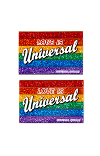 Love is Universal Retro Magnet Set