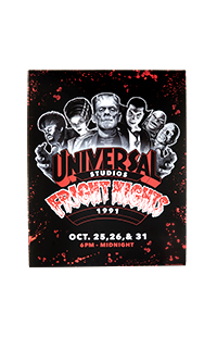 """Retro """"Fright Nights 1991"""" Monsters Poster"""
